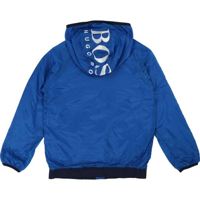 Boys Blue Logo Hood Windbreaker Jacket