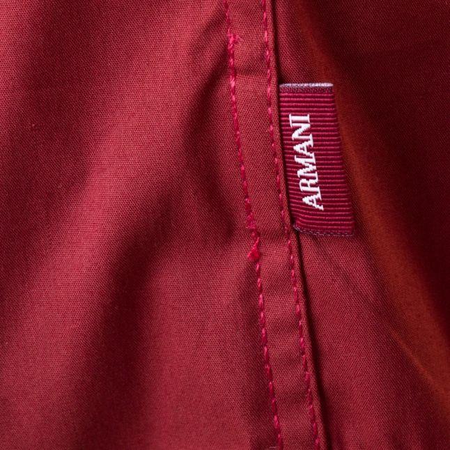 Mens Bordeaux Dress L/s Shirt