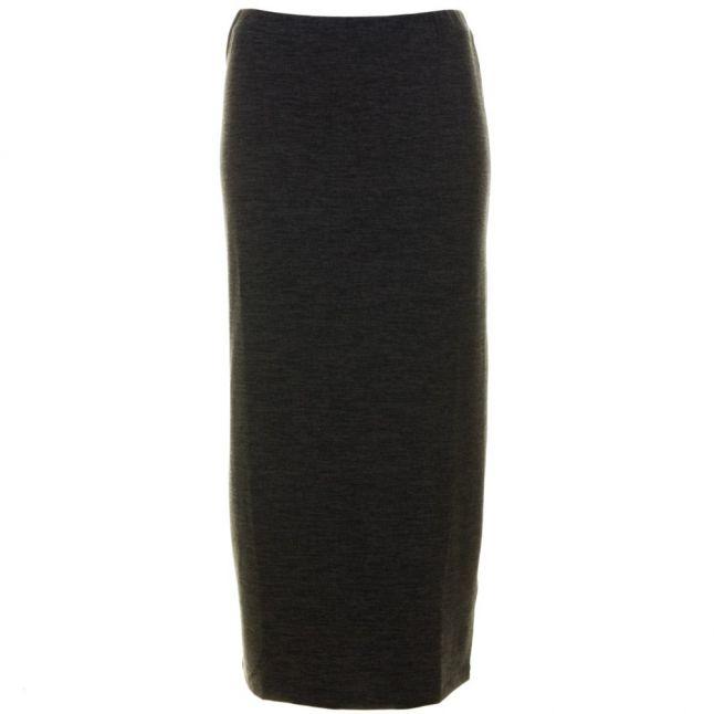 Womens Olive & Black Sweeter Sweater Maxi Skirt