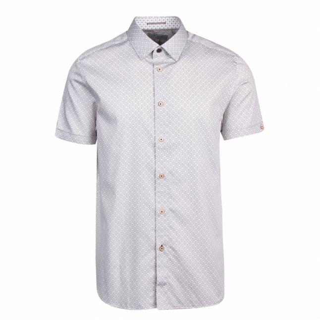 Mens White Namasty Geo S/s Shirt