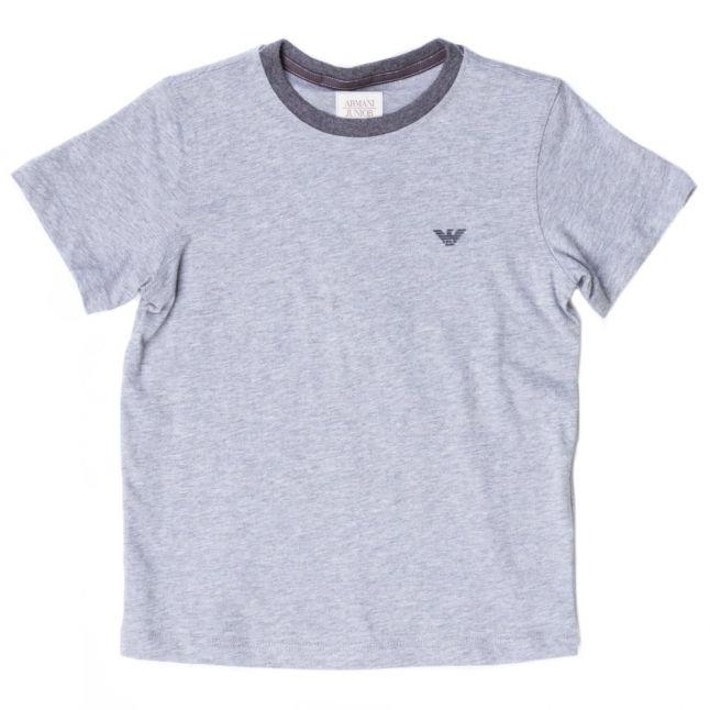 Boys Grey Melange Small Logo S/s Tee Shirt