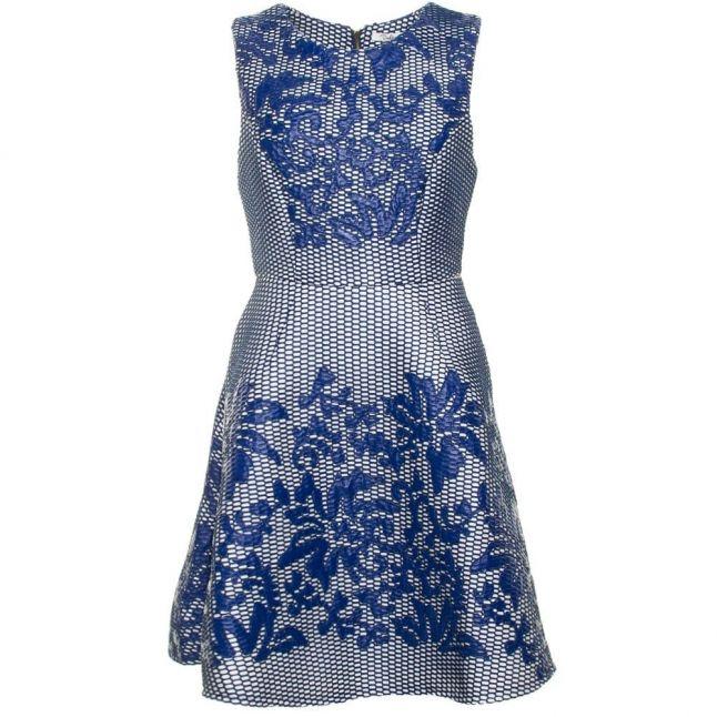 Womens Navy & Cream Cristina Dress
