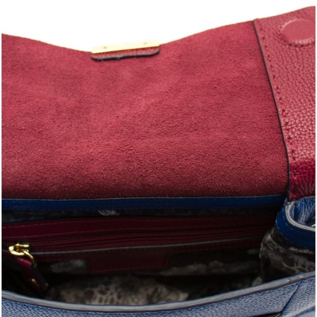 Womens Oxblood Parson Unlined Soft Leather Cross Body Bag