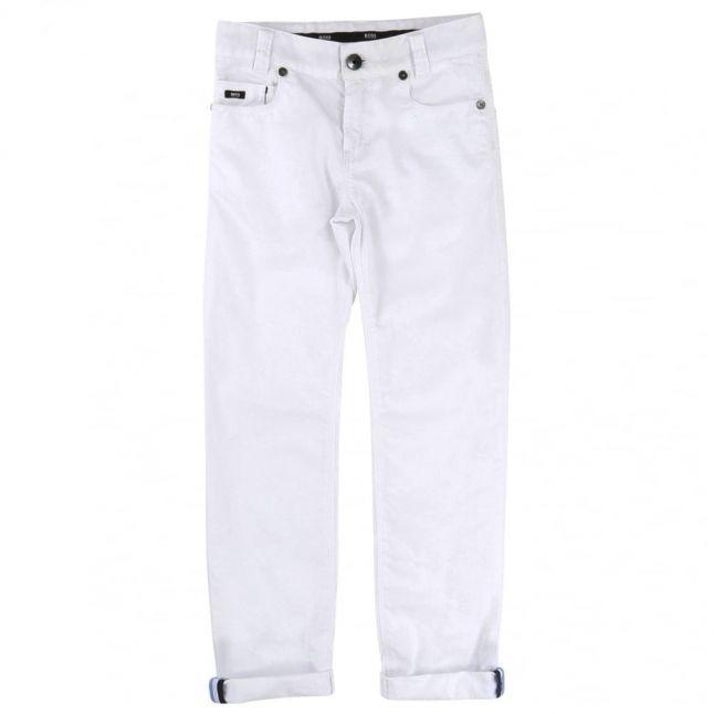 Boys White Chino Pants