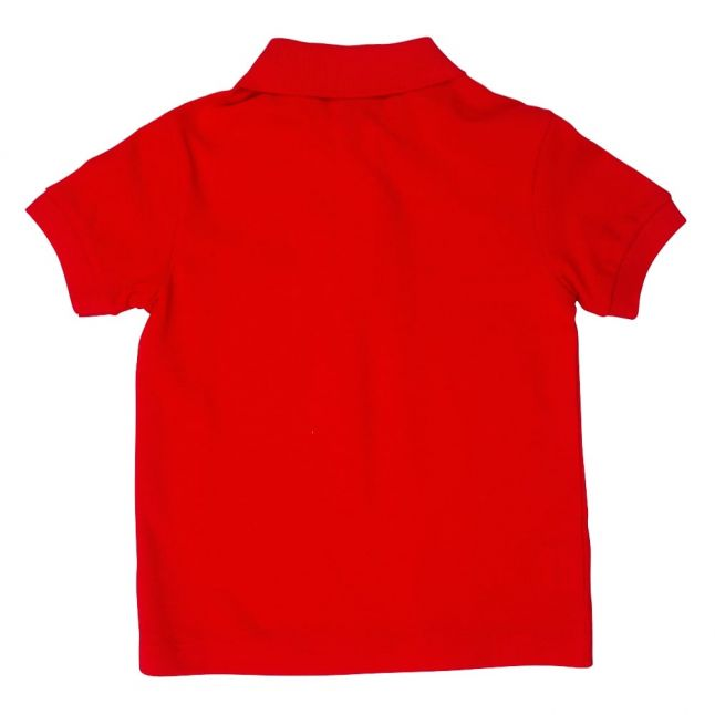 Boys Red Classic Pique S/s Polo Shirt