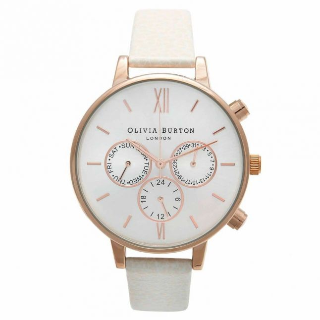 Womens Mink & Rose Gold Chrono Detail Watch