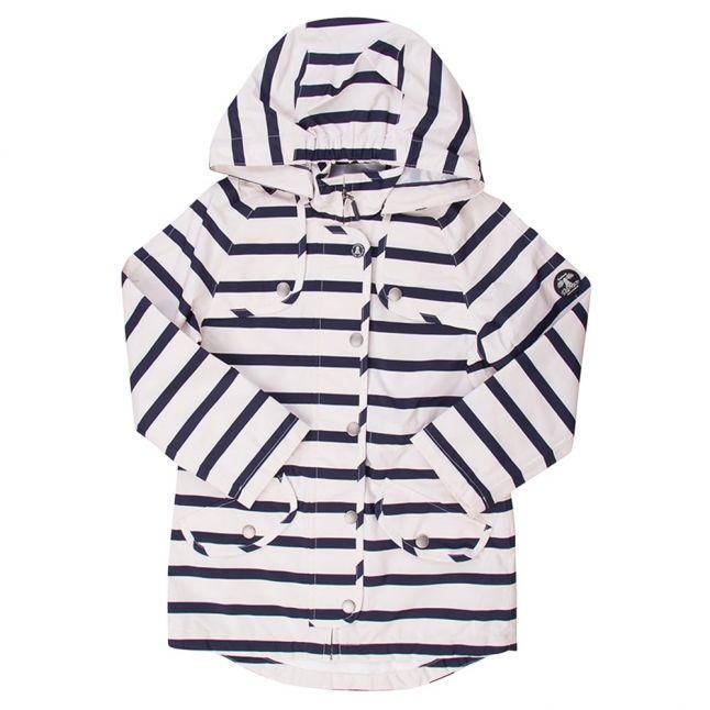 Girls Navy Stripe Trevose Jacket
