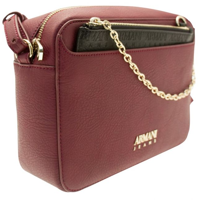 Womens Burgundy Branded Bag & Purse
