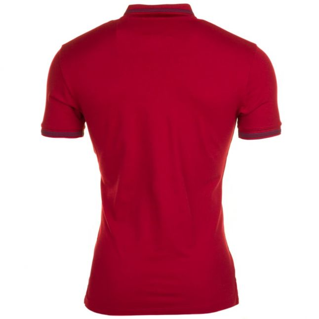 Mens Bordeaux Tipped Slim Fit S/s Polo Shirt
