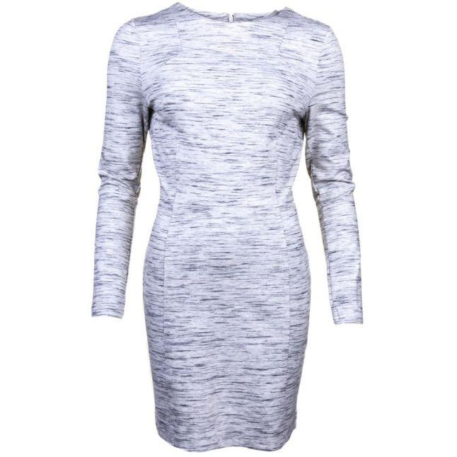 Womens Heather Grey Lula Stretch L/s Dress