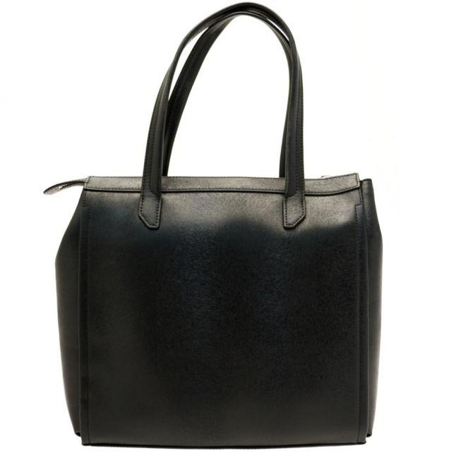 Womens Black Metallic Effect Shopper Bag
