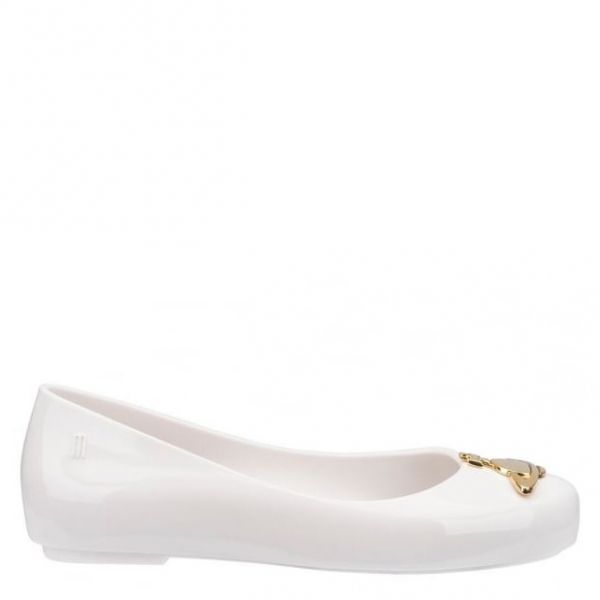Vivienne Westwood Kids White Orb Space Love Dolly Shoes (10-2)