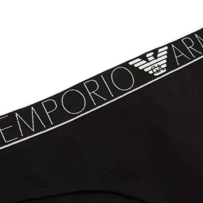 Womens Black Branded 2 Pack Briefs