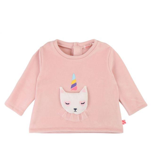 Baby Pink Unicorn Kitty Sweat Top