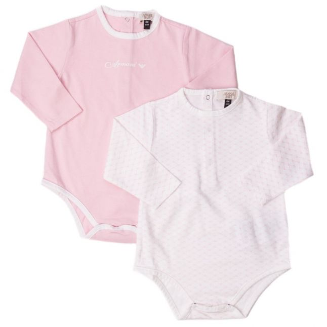 Baby Pink 2 Pack L/s Bodysuits