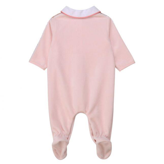 BOSS Baby Girls Pale Pink Soft Collared Babygrow