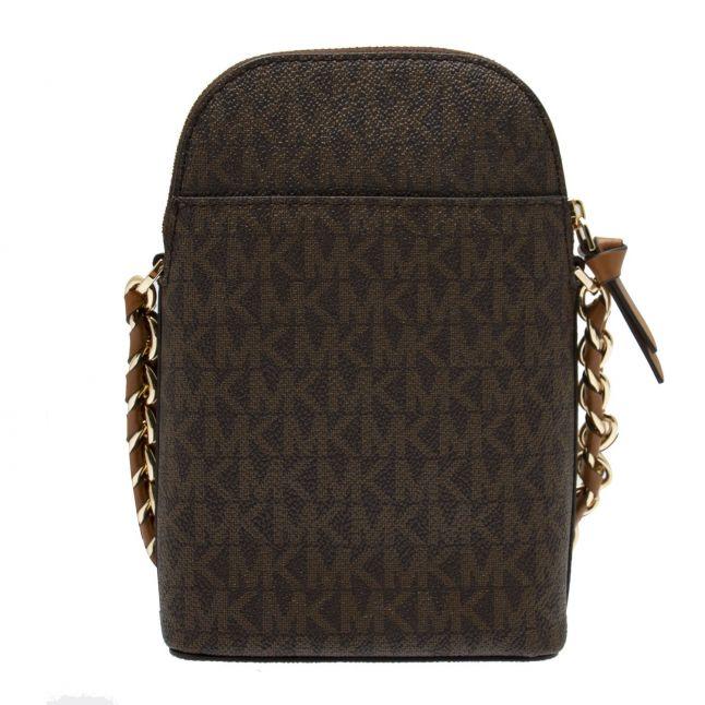 Michael Kors Womens Brown/Acorn Jet Set Small Chain Phone Crossbody Bag