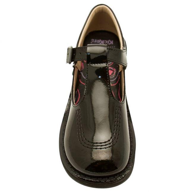 Junior Black Patent Leather Kick T Bar (12.5-2.5)
