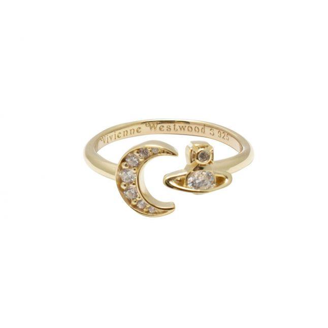 Womens Gold/White Dorina Small Ring