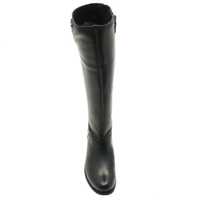 Womens Black Barton Croco Boots