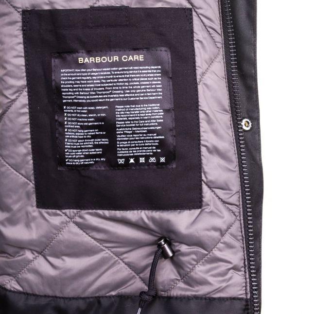 Mens Black Onyx Waxed Jacket