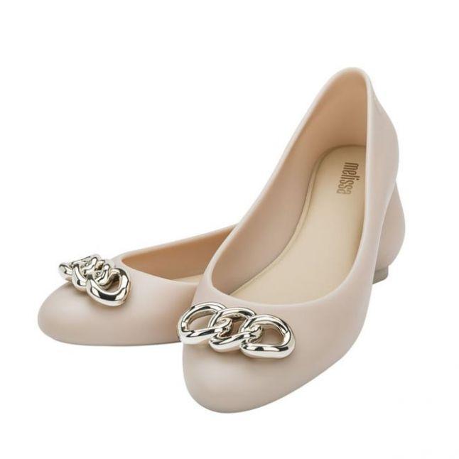 Womens Ivory Links Doll Shine Shoes