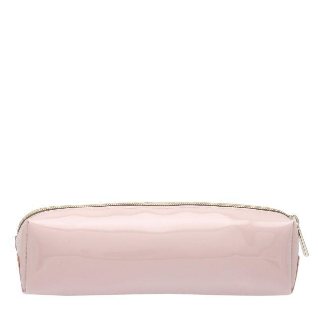Womens Dusky Pink Franai Bow Make Up Case