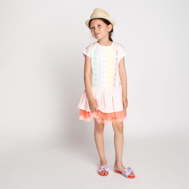 Girls Rose Happy Net Skirt Dress
