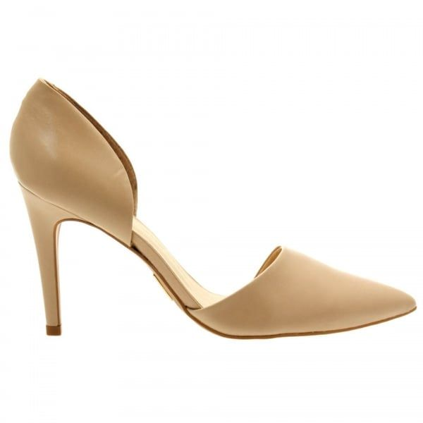 Womens Nude Clementina Court Shoes