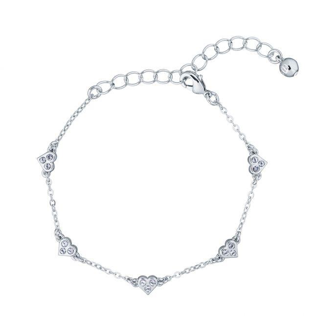 Womens Silver/Crystal Neleaha Nano Heart Bracelet