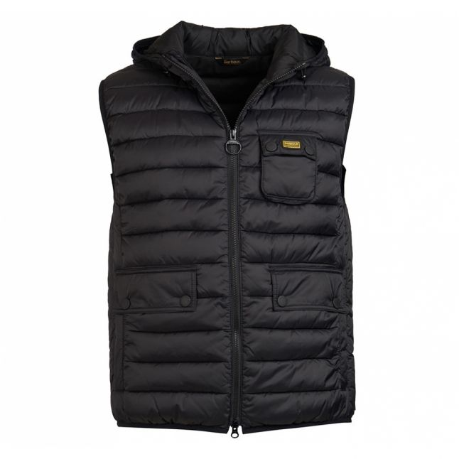 Mens Black Ousten Hooded Gilet