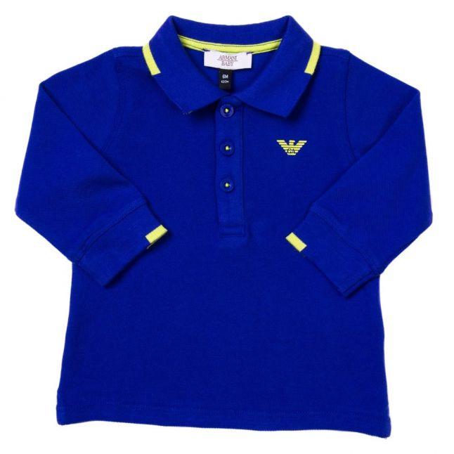 Baby Blue Small Logo L/s Polo Shirt