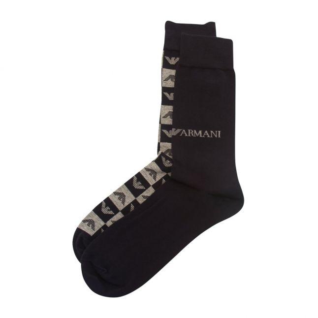 Mens Marine/Grey 2 Pack Socks