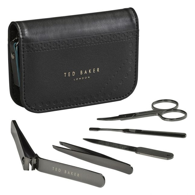 Mens Black Brogue Manicure Set