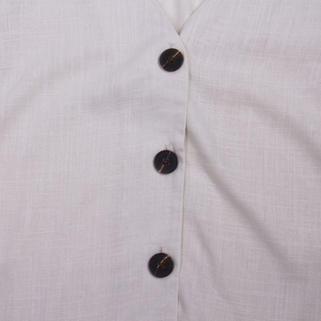 Womens Birch Vimonellie Button S/s Top