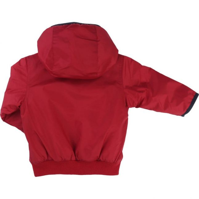 Baby Red Branded Hooded Jacket