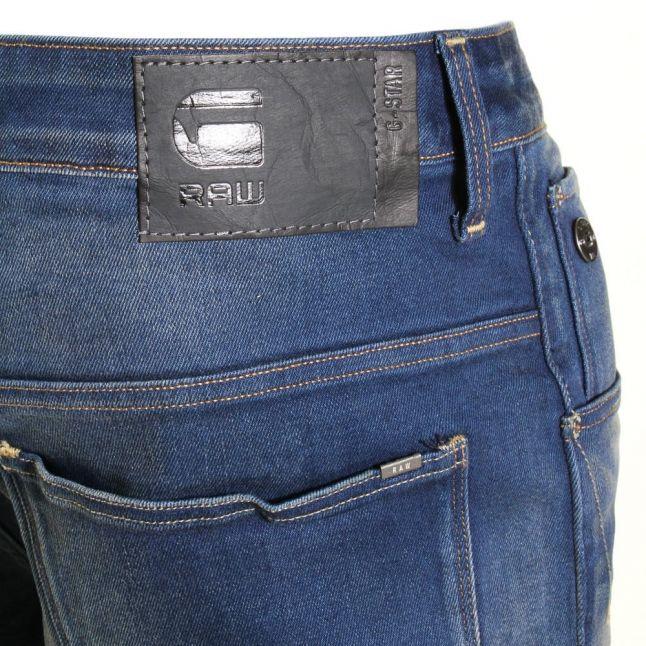 Mens Medium Aged Wash Arc 3D Slim Fit Jeans
