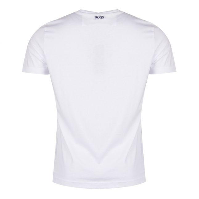 Athleisure Mens White Tee 4 Logo S/s T Shirt