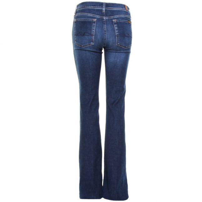 Womens Mid Indigo Wash Charlize Flare Jeans