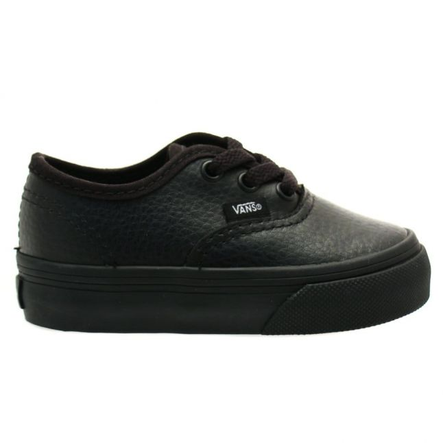 Toddler Black Authentic Leather Trainers (4-9)