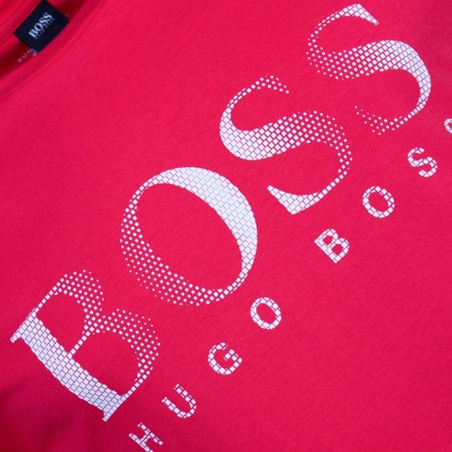 Boss Mens Bright Red Logo S/s Tee Shirt