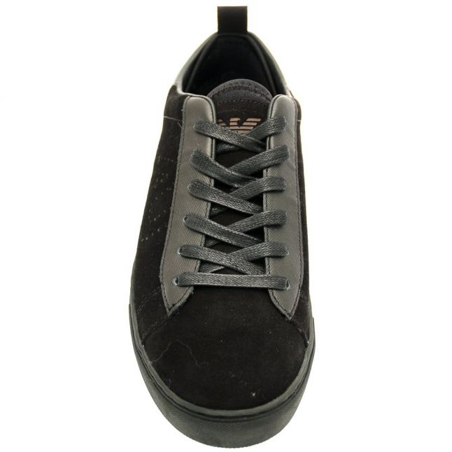 Mens Black Suede Trainers