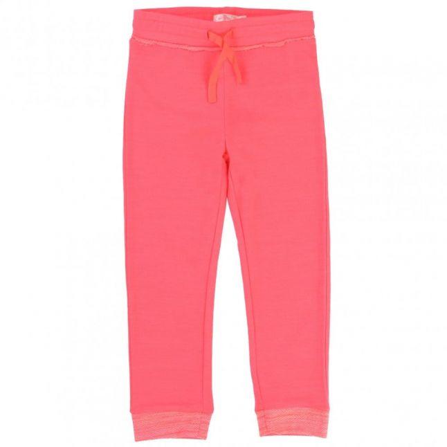 Girls Pink Embellished Hooded Tracksuit