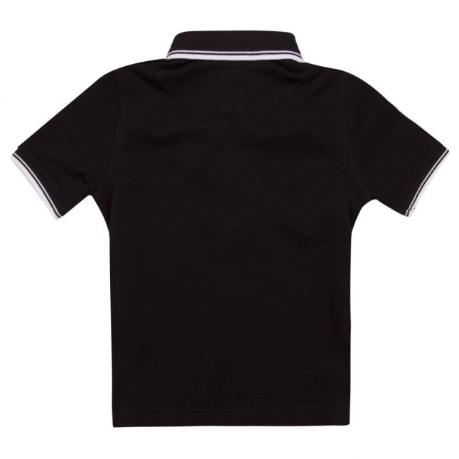 Boys Black Tipped S/s Polo Shirt
