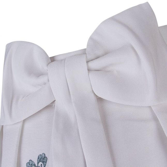 Womens Ivory Miolla Bow Back Gem Gardens Skirt