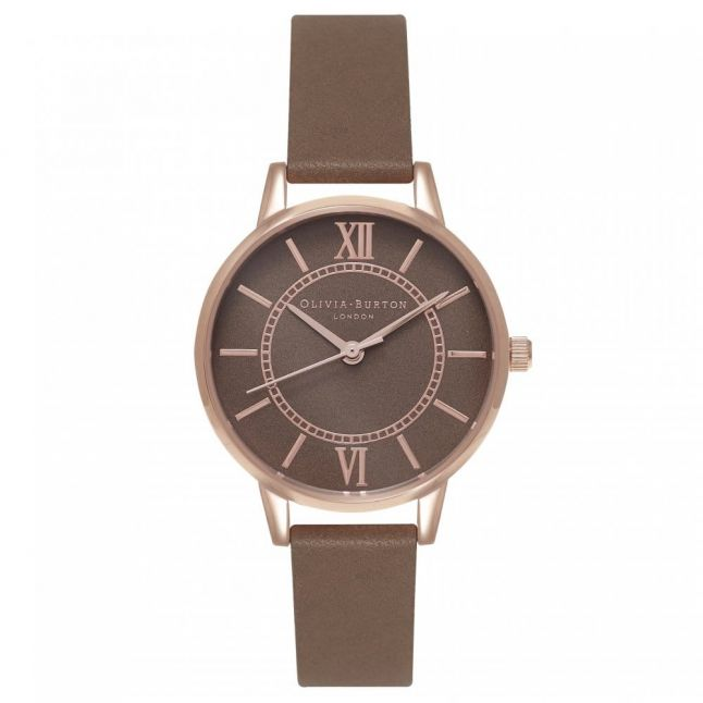 Womens Taupe & Rose Gold Wonderland Watch
