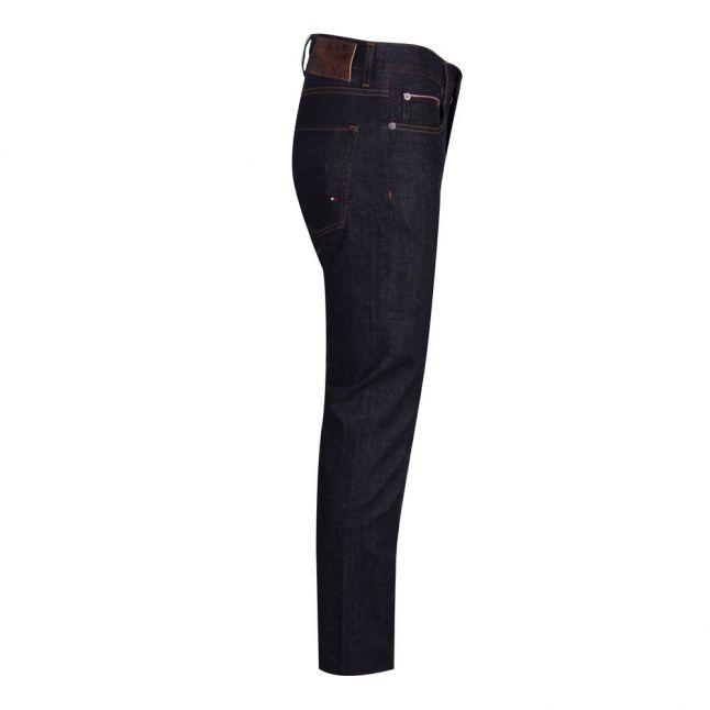 Mens Blue Wash Denton Straight Fit Jeans