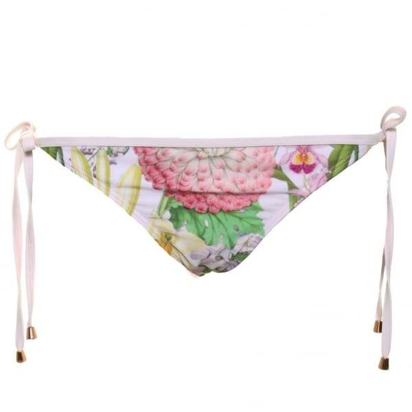 Womens Nude Pink Keyala Encyclopaedia Tie Side Bikini Pants