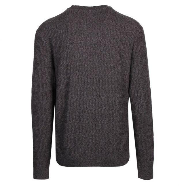 Mens Grey Agarr Textured Crew Neck Knitted Jumper