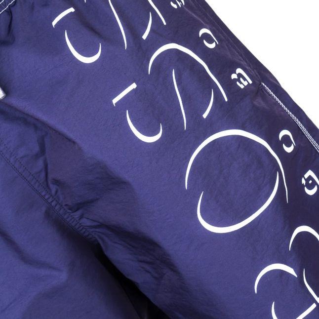 Mens Navy Killifish Big Logo Swim Shorts